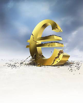 Euro Economic Crisis, Conceptual Artwork Poster by Science Photo Library
