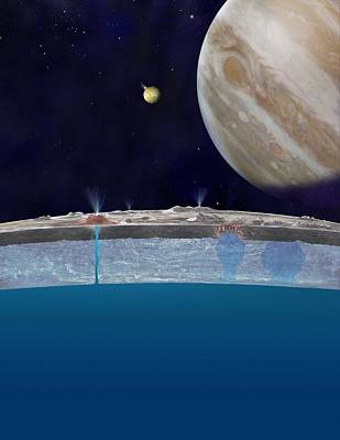 Europa's Ocean, Artwork Poster by Science Photo Library