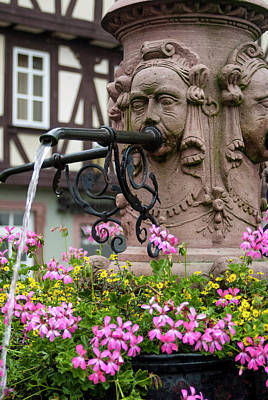 Europe, Germany, Miltenberg, Fountain Poster