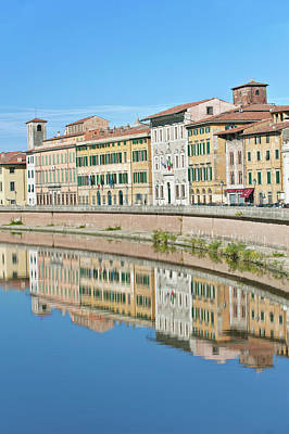 Europe, Italy, Tuscany, Pisa, The River Poster by Rob Tilley