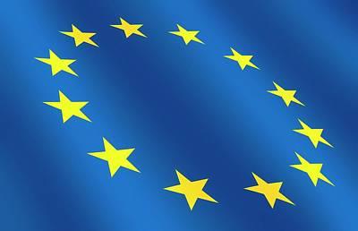 European Flag Poster by Detlev Van Ravenswaay