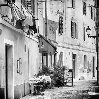 European Street Scene Poster