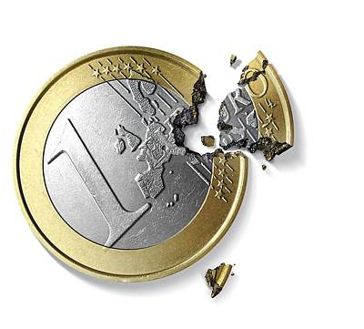 Eurozone Break-up, Conceptual Image Poster by Science Photo Library