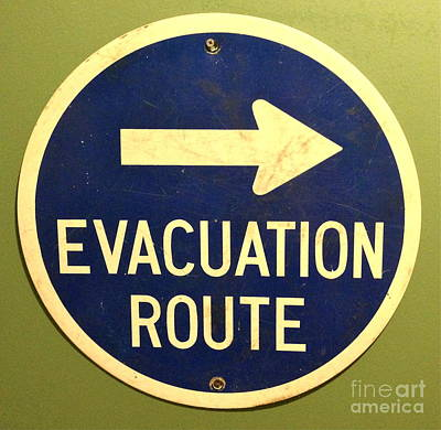 Evacuation Route Poster