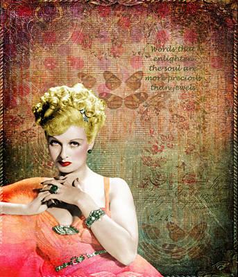 Evelyn Keyes 1920s Starlet Poster by Cat Whipple