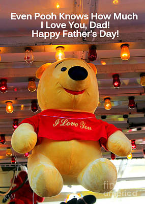 Even Pooh Knows Card Poster