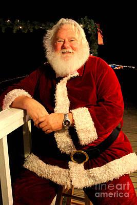 Even Santa Needs A Break Poster by Kathy  White