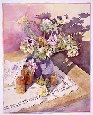 Evening Anemones Poster