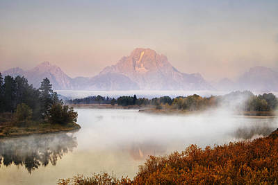 Evening At Oxbow Bend Poster