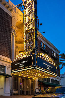Evening At The Saenger Theatre Poster