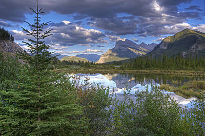 Evening At Vermillion Lakes Poster