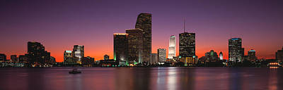 Evening Biscayne Bay Miami Fl Poster by Panoramic Images