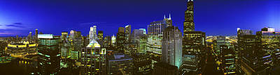 Evening Chicago Illinois Poster by Panoramic Images