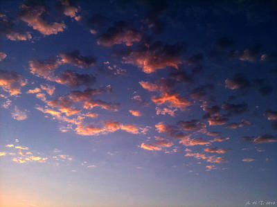 Evening Embracing Clouds Poster by Amanda Holmes Tzafrir