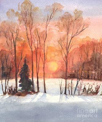 The Evening Glow Poster by Carol Wisniewski