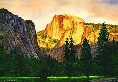 Evening Glow In Yosemite Poster