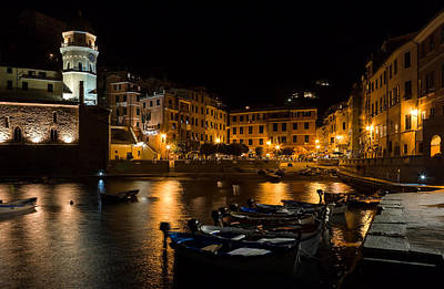 Poster featuring the photograph Evening In Vernazza - Cinque Terre Italy by Carl Amoth
