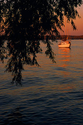 Evening Mooring - Lake Geneva Wisconsin Poster