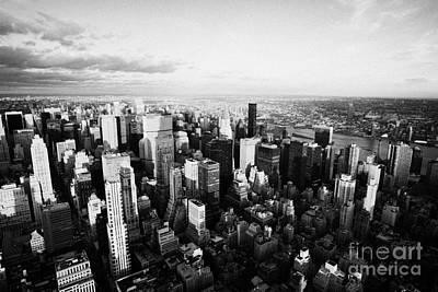 Evening Night View Of North East Manhattan From Empire State Building New York City Poster