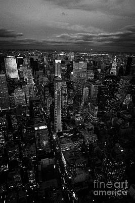 Evening Night View Of North East Manhattan Night Views New York City Skyline Poster by Joe Fox