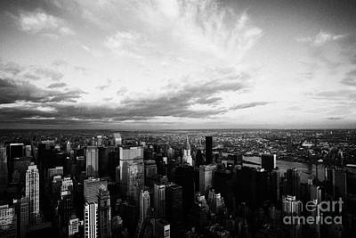 Evening Night View Of North East Manhattan Skyline New York City Poster by Joe Fox