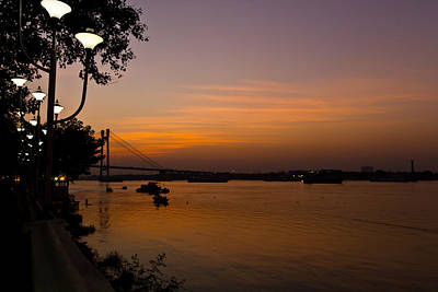 Evening On Ganga Poster by Sourav Bose
