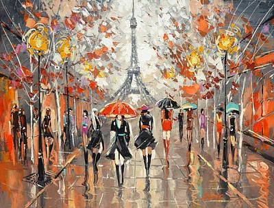 Evening. Paris Poster