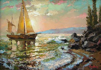 Evening Sail Poster