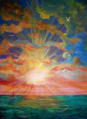 Evening Sail II Poster