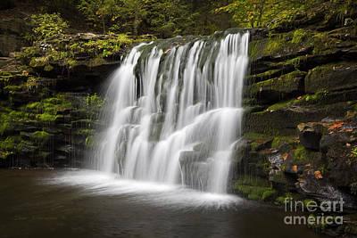 Evening Silk Wilderness Waterfall Poster by John Stephens