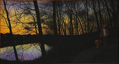Evening Stroll Poster by Peter Plant