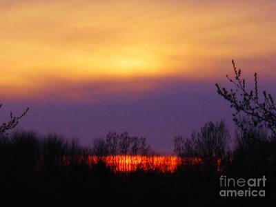 Evening Sunset Lake Poster