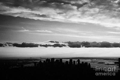 Evening Sunset View Of Lower Manhattan New York City Poster by Joe Fox