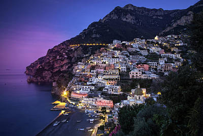 Evening View Along The Amalfi Coast Poster