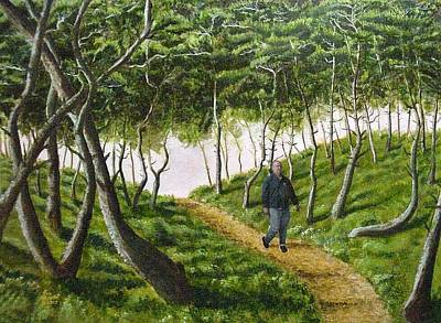 Poster featuring the mixed media Evening Walk by Kenny Henson