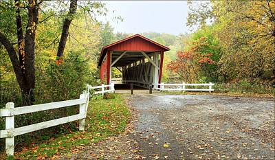 Everett Road Covered Bridge Poster by Daniel Behm