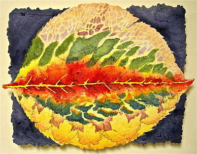 Poster featuring the painting Every Leaf Has A Story by Carolyn Rosenberger