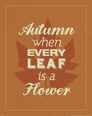 Every Leaf Poster by Katie Pertiet