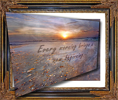 Every Morning Brings A New Beginning II Poster by Betsy Knapp