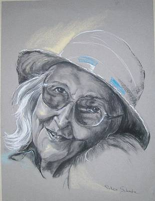 Poster featuring the drawing Everybodys Grandma by Peter Suhocke