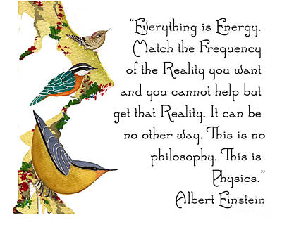 Everything Is Energy Poster by Alexandra  Sanders