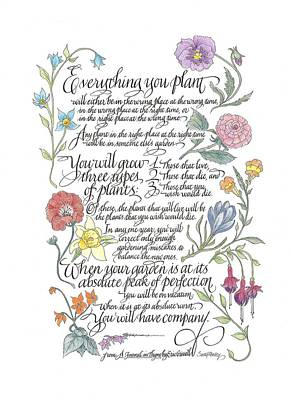 Everything You Plant Poster