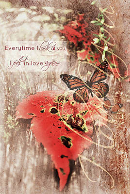 Everytime I Look At You Poster by Chastity Hoff