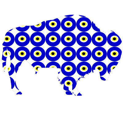 Evil Eye American Bison  Poster by Celestial Images