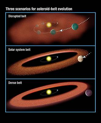 Evolution Of Asteroid Belts Poster by Nasa/esa/stsci