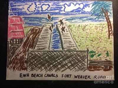 Ewa Beach Canals Poster by Willard Hashimoto