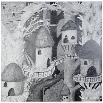 Ewok Village Poster by Sean Goldsmith