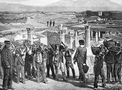 Excavations At Pompeii, 1890s Poster