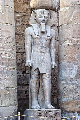Excellant Standing Pharaoh Sculpture Poster