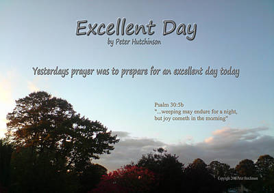 Excellent Day Poster